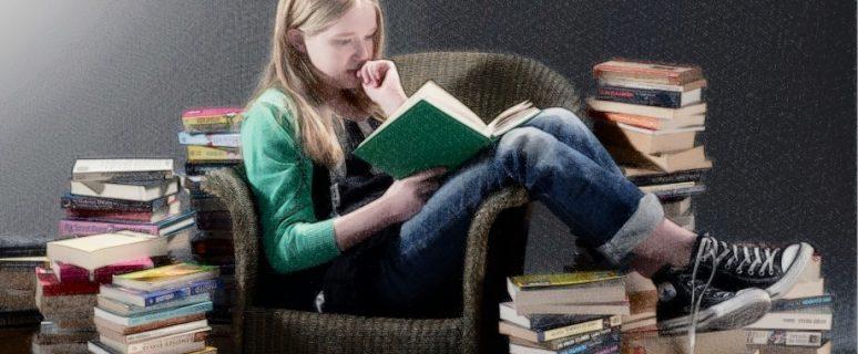 Вика любит читать