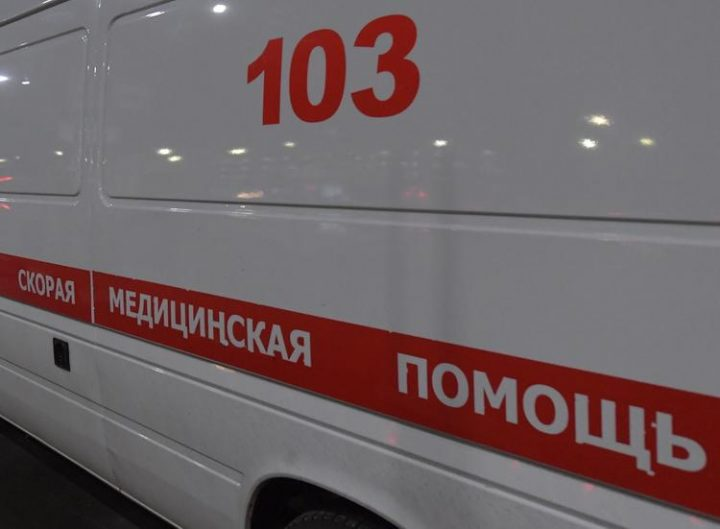 Moscow oblast. Ambulances at the airport Sheremetyevo. As a result of fire in the plane Sukhoi Superjet 100 with tail number RA-89098 airline `Aeroflot`, which was followed in Murmansk from Moscow and made an emergency landing at Sheremetyevo airport, people died.