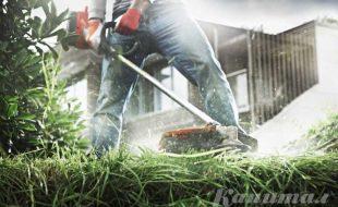 Покос травы и бурьяна